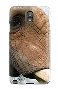 New Snap-on Willis White Skin Case Cover Compatible With Galaxy Note 3- Elephant