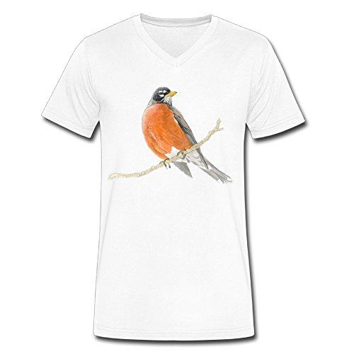 Robins Shoppe18 American Robin Neck Men Normal?fit Shirt (Robin Custome)