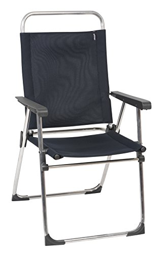 Lafuma Victoria Aluminum Folding Chair with Adjustable Back - Alu brut Frame with Acier Air Shell Fabric