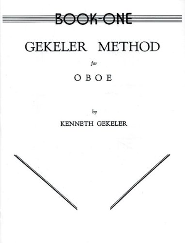Alfred Publishing 00-EL00081 Gekeler Method for Oboe Book I - Music Book