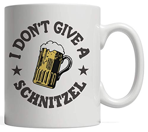 I Don't Give A Schnitzel Funny Oktoberfest German Fest Mug - Funny Octoberfest Gift Idea For Beer Lovers Who Love Drinking Alcohol Bier In To Celebrate In This Bavarian -