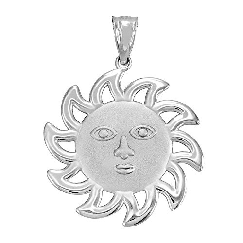 Gold Smiling Sun Charm - 925 Sterling Silver Smiling Sun Face Charm Pendant