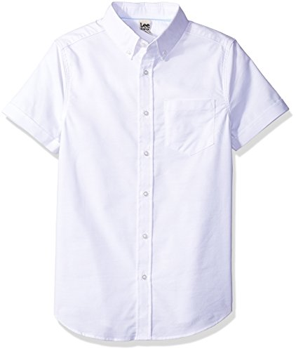LEE Big Boys' Short SVE Oxford Shirt, White, Large by LEE