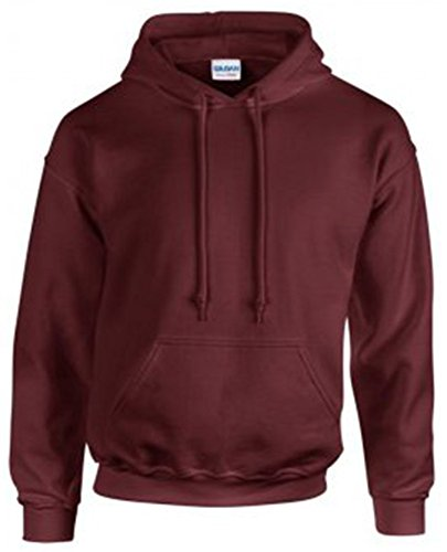 Gildan 18500 - Classic Fit Adult Hooded Sweatshirt Heavy Blend - First Quality - Maroon - Large