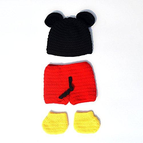 23e0db12f Amazon.com: HUPLUE Newborn Baby Mickey Mouse Photography Prop ...