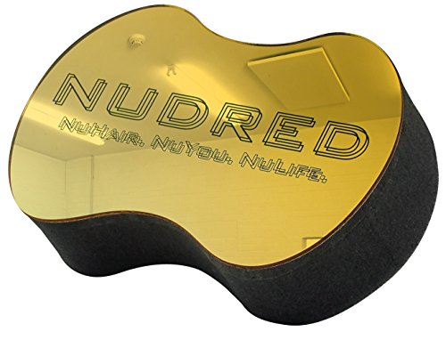 Large Gold Mirrored the Original NuDred Curl Hair Sponge for Men / Women (Big Holes) (Gold)