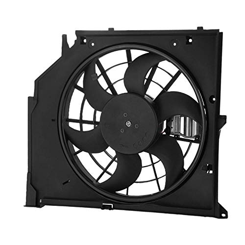 Mophorn Radiator Cooling Fan 12V 24V Electric Intercooler Car Engine Fans for B-M-W E46 3 Series 99-06 325i 328i 330i B-M-W 323 325 328 330I: