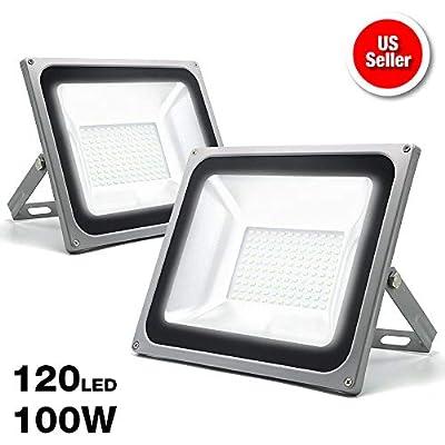 eTopLighitng  2-Pack  Outdoor LED Flood Light 100W Volts Cool White 6500K