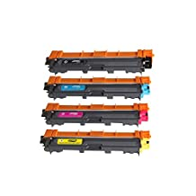 Toner Clinic ® TC-TN221 TN225 4PK Compatible Laser Toner Cartridge Set for Brother TN-221 TN-225 TN-221BK Black TN-225C Cyan TN-225M Magenta TN-225Y Yellow Compatible With Brother HL-3140CW HL-3170CDW MFC-9130CW MFC-9330CDW MFC-9340CDW