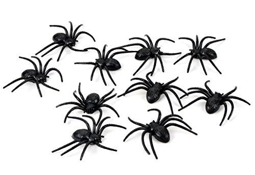 175 Pcs Halloween Spider Decorations - 160pcs Small Spider - 10pcs Medium Spider - 4pcs Big Spider - 1pcs 800 sqft Spider Web Decorations - Best Halloween Party Favor by Fun Holiday (Image #2)