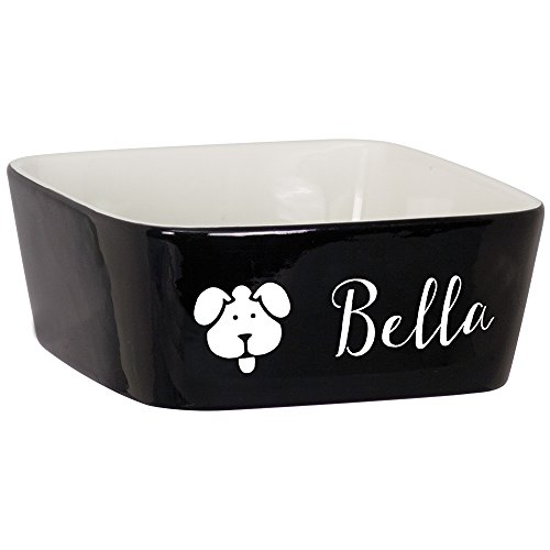 Custom Pet Bowl with Dog Face Design | Personalized Engraved Puppy Bowl | Custom Pet Gifts | Dog Bowls | 7