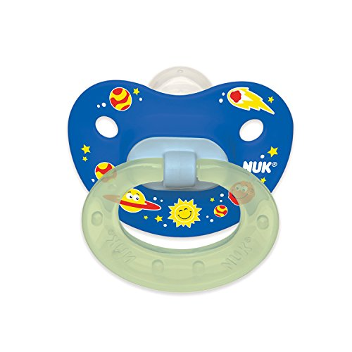 NUK Day & Night Glow Pacifier (6-18m) 2pk Silicone, Boy Designs
