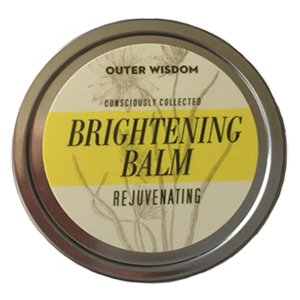 Brightening Balm - Brightens, Hydrates, Nourishes. Rebuilds Tissue and Collagen While Shedding Dead Skin Cells. All Natural Organic Ingredients, Handmade in the USA by Outer Wisdom (Chamomile Primrose Salve)