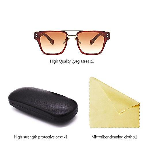 Retro XFentech Extragrandes Unisex Gafas Mujers para 01 Gafas de sol y UV400 Hombre de Estilo rTrqX