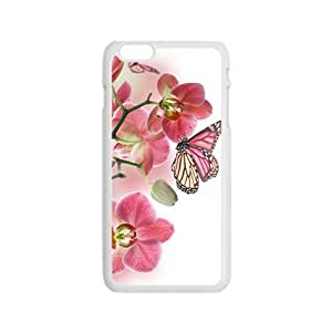 Pink Butterfly Hight Quality Plastic Case for Iphone 6