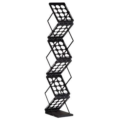 Galaxy Displays - Collapsable Literature Rack for Trade Show Booth Display - Black Lit Rack Display Overstock Dalmatian