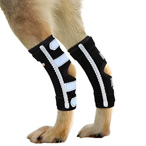 NeoAlly Dog Rear Leg Brace Splints with Removable Metal Spring Strips for Strong Support to Hind Leg and Hock Stabilize Dog Legs and Regain Mobility