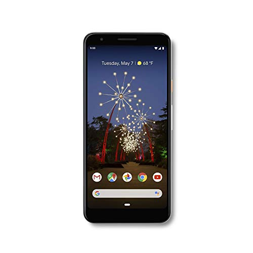 Google - Pixel 3a with 64GB Memory Cell Phone (Unlocked) - Clearly White (Best Sounding Cell Phone 2019)