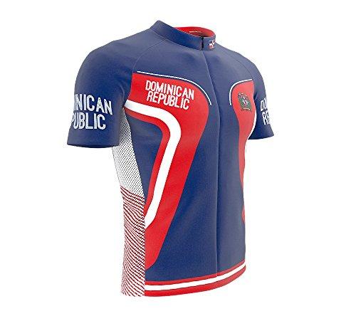 Dominican Republic Panel - ScudoPro Dominican Republic Full Zipper Bike Short Sleeve Cycling Jersey for Men - Size L