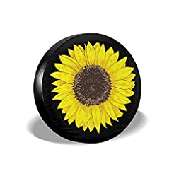 SHOE GONE Car Tire Cover Sunflower Spare...