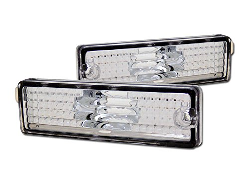 (AutobotUSA CLEAR FRONT/REAR BUMPER SIDE MARKER REFLECTOR LIGHTS K2 93-02 CAMARO/98 FIREBIRD)