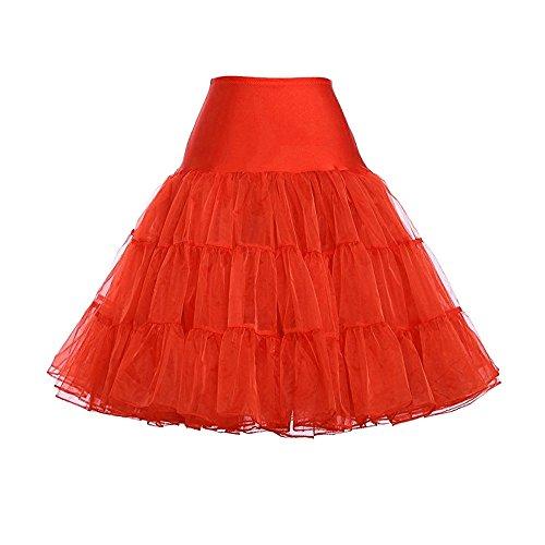 Tulle Taille Mini Jupon Robe Dihope Rouge Soires Anniversaire sous Tutu Haute Jupe Fille Dguisement Courte Princesse Femme vUnzn0