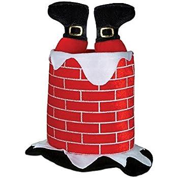 Amazon.com  Beistle 1-Pack Plush Santa Chimney Hat  Costume Headwear ... b9fdd7f242f7