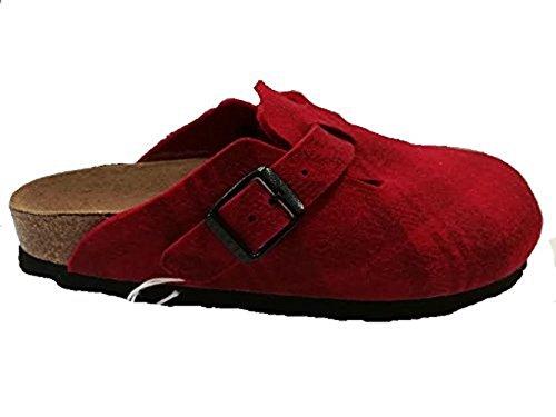 Birkenstock - Zuecos para mujer Rojo