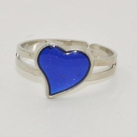 fablcrew creativo anillo chapado en plata de coraz/ón cambia de color Anillo Ajustable Anillo para mujeres hombres