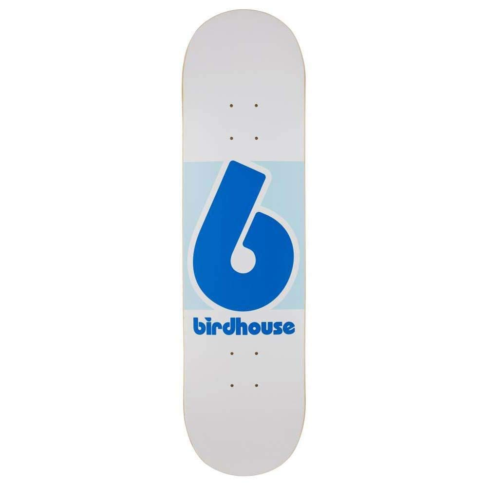 Birdhouse Block Logo Skateboard Deck - White/Blue 8.125'