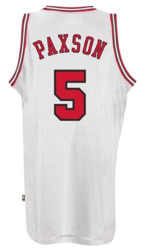 John Paxon Chicago Bulls Adidas NBA Throwback Swingman Jersey - White