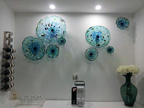 Contemporary hand blowing art murano glass wall art & Amazon.com: Contemporary hand blowing art murano glass wall art ...