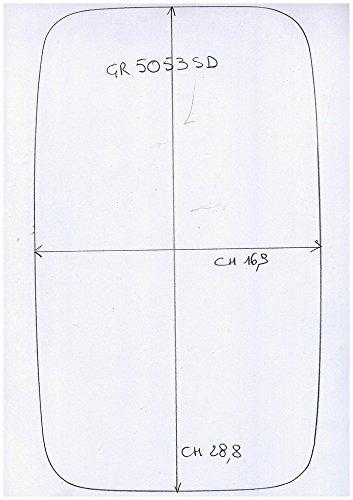 Cromato Sinistro Curvo Solo Vetro con Biadesivo Specchio Retrovisore specchietto esterno