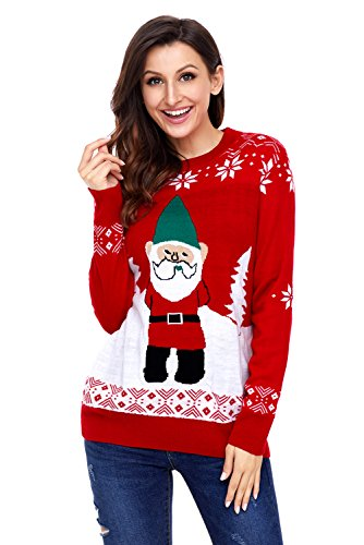 Plus Maglione Clause Rosso Natale Santa Baronhong Holiday qrrXFTx