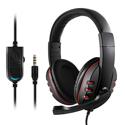 Price comparison product image Gaming Headset With Noise Cancelling Microphone,  Stereo Surround Sound headphone for Xbox One,  PS4,  Nintendo Switch,  PC Controller,  Lightweight Comfortable Ergonomic Design