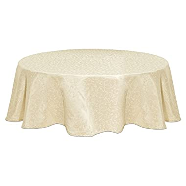 Lenox Opal Innocence 90-Inch Round Tablecloth, Ivory