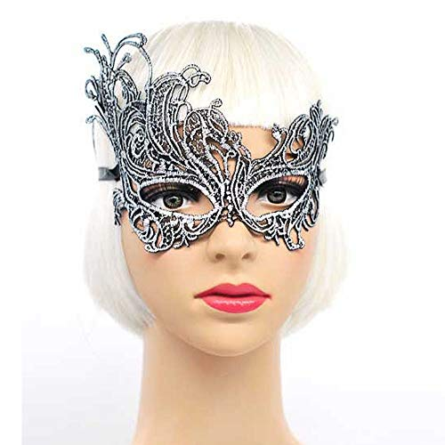 E-Laurels Exquisite Lace Masquerade Mask Catwoman Dancing Pretty Party Evening Prom Eye Mask Halloween Fancy Dress Costume Cosplay (S23) -
