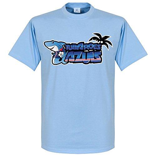 Mantello verde Tubarões Azuis–T-shirt Sky