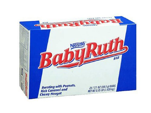 (Baby Ruth Milk Chocolate Candy Bars, 2.1 Ounce Bar - Pack of 24)