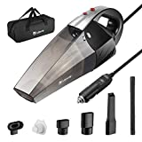 isYoung Car Vacuum Cleaner with LED Light, 4500PA Stronger...