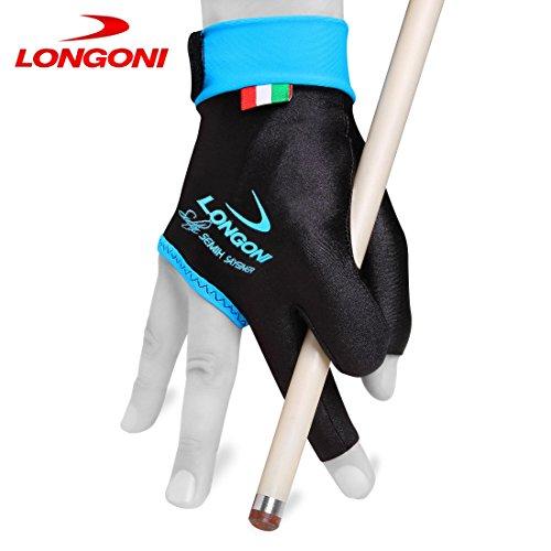 Black for Right Hand Longoni Sultan Billiard Pool Cue Glove