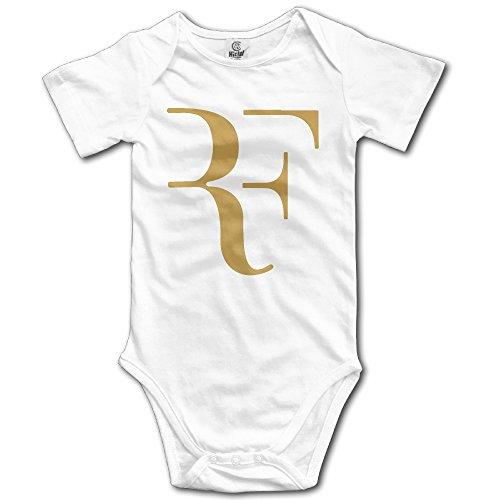 (Unisex Baby Roger Federer Logo Rf 2016 Short Sleeve Onesies)
