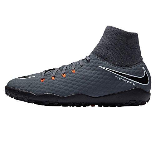 Nike Hypervenom Phantom X III Academy DF TF, Color Gris / Negro