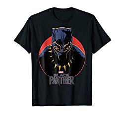 Marvel Black Panther Movie Retro Circle Portrait T Shirt