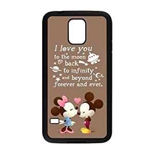 S5 Case, Cute Cartoon Mickey Mouse Hard Snap-on TPU Rubber Back Cover Case for Samsung Galaxy S5