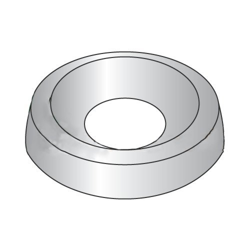 #4 Countersunk Finishing Washers/Steel/Nickel/Outer Diameter: 3/8''/Thickness: 3/32'' (Carton: 10,000 pcs)