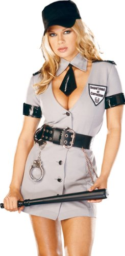 Corrections Officer Costume - Large - Dress Size (Prison Guard Costume Women)