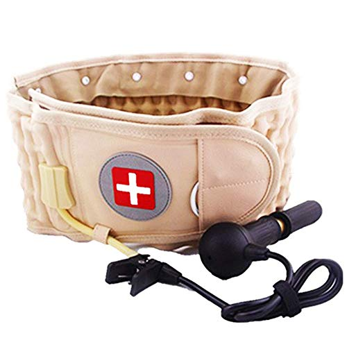 Decompression Back Belt & Lumbar Traction Device & Low Back Brace for Back Pain, One Size for 29-49 ()