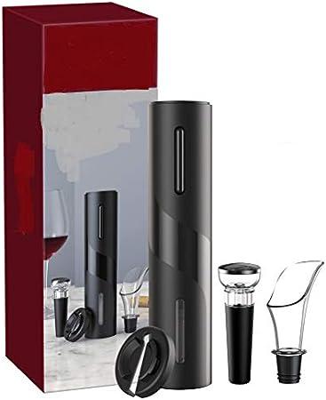Mankoo Sacacorchos de Vino 4 en 1 Juego de sacacorchos de Vino Juego de Regalo de sacacorchos de Vino eléctrico USB Recargable Restaurante Familiar Fiesta sacacorchos Profesional