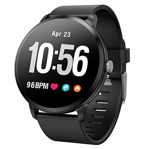 - Fitness Tracker Blood Pressure Activity Tracker Heart Rate Blood Oxygen Big Face Smart Watch Sleep Monitor Calorie Counter Pedometer Watch for Women Men